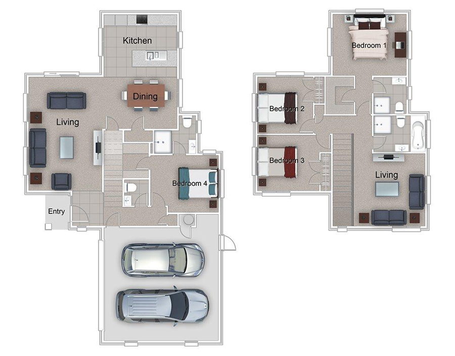 House plans 4 bed brick tile oxford ashcroft homes for Oxford floor plan
