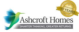 Ashcroft Homes Celebrating 10 Years Logo